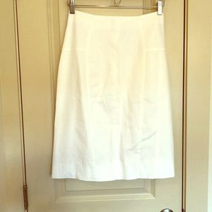 Piazza Sempione white knee-length skirt